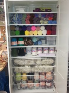 PAX storage unit packed full of my yarn stash and base thread and yarn for dyeing.