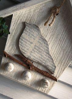 Rustic key holder  wooden birdhouse par GreenHouseGallery sur Etsy, $14.00