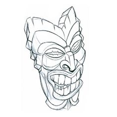 tiki drawings - Google Search