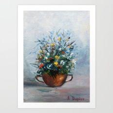 Bodegón de flores/Natureza morta de flores/Still life of flowers Art Print