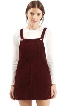 Topshop Moto Corduroy Pinafore Dress | Nordstrom