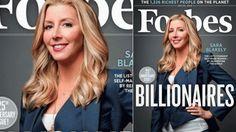 Spanx creator Sara Blakely Forbes youngest billionaire. Woman entrepreneur.