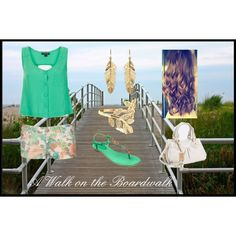 """A walk on the boardwalk"" by monica-rodriguez981821 on Polyvore"