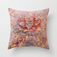 back to the dream Throw Pillow by Marianna Tankelevich - $20.00
