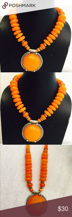 Handmade yellow amber/resin charm necklace A beautifully designed Tibetan jewellery, brings an art of elegance. The perfectness and attractiveness of its natural quality adds to rare beauty, making ideal for all ages.pick up n serious buyer only Free People Jewelry Necklaces