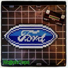 Ford logo perler beads by chr1spn