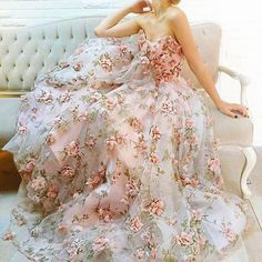 e15b664620f Floral embroidery gown Floral Gown