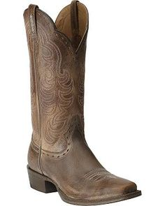 Womens Boots Fascinating 45532066 Ariat Good Times Antique Brown Full Grain Leather
