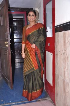 Vidya Balan at the classis concert of Bolava Vithal at the bharatiya vidya bhavan auditorium in a beautiful saree.