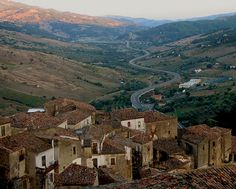 Village in the mountains - Taken from the castle of Oriolo, Calabria (Italy).   #TuscanyAgriturismoGiratola