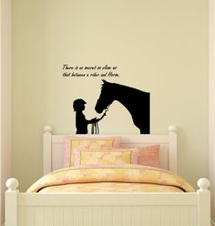 Horse decal-Horse quote decal-Vinyl wall sticker-Horse wall sticker-28 X 25 inches $24