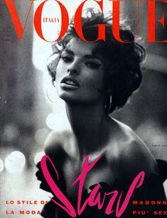 Linda Evangelista Vogue Italia cover- possibly the nicest cover ever.