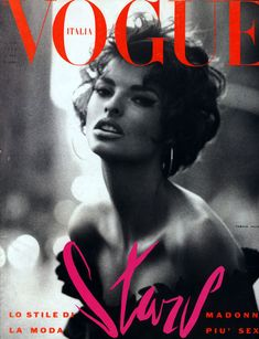 Linda Evangelista Vogue Italia cover- possibly the nicest cover ever.