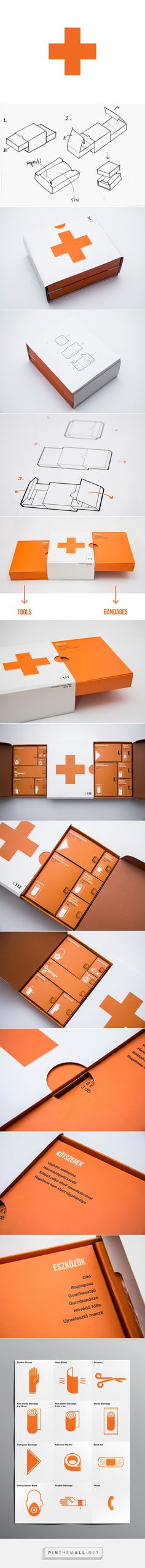 First Aid Kit Redesigned (Student Project) on Packaging of the World - Creative Package Design Gallery. - a grouped images picture Drug Packaging, Medical Packaging, Print Packaging, Board Game Design, Leaflet Design, Medical Design, Newsletter Design, Layout, First Aid Kit