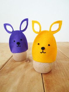 DIY Easter : DIY – No sew Easter bunny egg cozies
