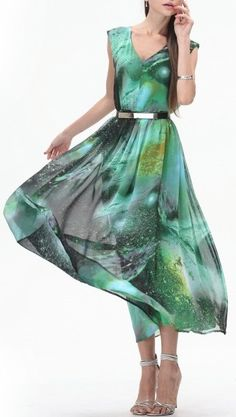 Gorjuss Green Galaxy Dress ❥