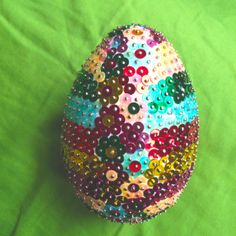 Easter - my GLAM spanglled egg
