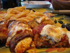 Three Cheese Eggplant Rollatini with Homemade Ricotta