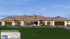 4 Bedroom House Plans, Family House Plans, Country House Plans, Dream House Plans, House Floor Plans, Single Storey House Plans, House Plans With Photos, Bungalow House Design, Fancy Houses