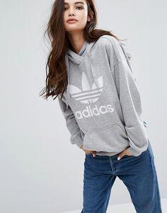 adidas Originals Gray Trefoil Hoodie