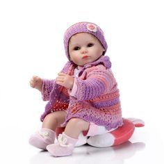 79.99$  Watch now - http://alizkq.worldwells.pw/go.php?t=32739522551 - 17 Inch Alive Silicone Reborn Babies Dolls Unisex Dolls for Children Nursing Sleeping Doll Perfect Birthday Gifts Bonecas Bebe 79.99$