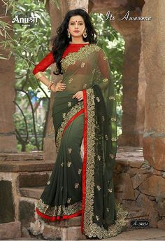Georgette sarees padding with heavy multi jari women sarees, georgette multi jari pallu work with resham jari cutwork heavy border piping lace work with blouse piece