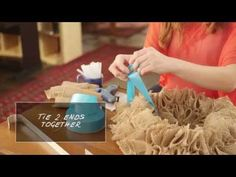 How to Make a Swatch Burlap Wreath Tutorial (Video). See how to make a DIY burlap wreath from creative swatches of fabric and ribbon.