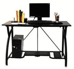 Foldable Laptop Desk Adjustable Home Office Table Computer Writing Steel Black Cool Office Desk, Home Office Table, Home Desk, Home Office Desks, Home Office Furniture, Modern Furniture, Office Works, Table Furniture, Good Gaming Desk