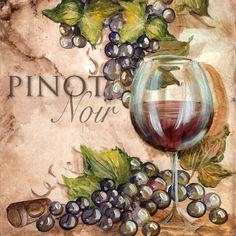 """Grapes & Glasses Pinot Noir"" ~ Tre Sorelle Studios"