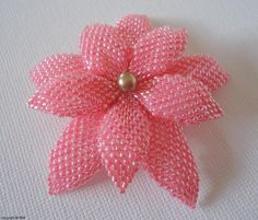 Beaded double flower pattern on Craftsy.com
