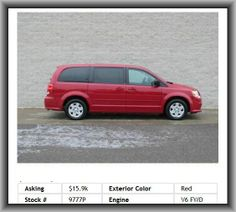 2012 Dodge Grand Caravan SE Mini-Van  Tires: Profile: 60, Coil Rear Spring, Digital Audio Input, Heated Driver Mirror, Power Remote Passenger Mirror Adjustment, Fuel Type: Flexible, Cupholders: Front And Rear, Dual Vanity Mirrors, Clock: In-Radio Display, Am/Fm Stereo, Fuel Consumption: City: 17 Mpg, Rear Hip Room: 65.0, Transmission Hill Holder, Interior Air Filtration, 321 Lbs., Front Suspension Stabilizer Bar, Body-Colored Bumpers, Cruise Control, In-Dash Single Cd Player,