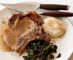 baked pork chops with apple thyme gravy--and lots of other paleo, whole30 recipes