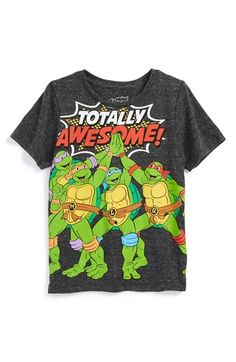 'Totally Awesome TMNT' Graphic T-Shirt (Toddler Boys & Little Boys)