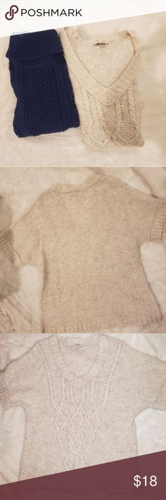 X-Large Heather Silver Lake Grey Ann Taylor LOFT Glam Up Sweater Size Small