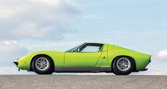 Lamborghini Miura... not sure if Verde Ithaca, Verde Mantis, or Verde Scandal... ;)