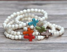 New for Fall | Cross Bead Bracelets $12.00