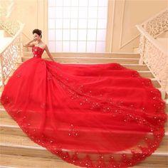 Dentelle Rouge Robes De Mariée robe de Bal Sweetheart Tulle Cristal Princesse Robes De Mariée Weding Nuptiale Robes de Mariée weddingdress dans de sur AliExpress.com | Alibaba Group