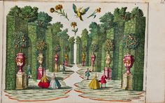 hand coloured engraved plate by Martin Engelbrecht, Augsburg, c. 1735-50.