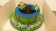 Minion and Trampoline Birthday Cake