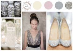 Silver inspiration board on www. Inspiration Boards, Simple Weddings, Chic, Silver, Shoes, Easy, Fashion, Shabby Chic, Moda
