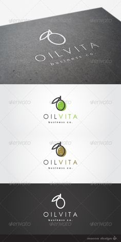 Oilvita is a clean, professional and elegant logo suitable for a select virgin olive oil brand, food or beauty products derived from olive oil, for a line of healthy and natural products, an olive oil manufacturing company, a restaurant, a catering service or any other business related. Features   3 Variations: Green, Golden Arbequina and White  100% Re-sizable vectors  100% Fully editable text  Easily customizable colors  AI & EPS documents