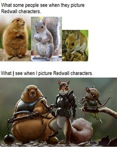 """Redwall"" -Brian Jacques I may be the only person out of my whole group of friend that read the books and watch the TV show. Book Characters, Fantasy Characters, Zootopia, Funny Animals, Cute Animals, Zoo Animals, Redwall Series, Medieval, Fantasy Creatures"