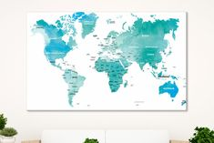 Childrens world map world map nursery canvas world map poster world blue world map poster travel print map with cities detailed world map art world countries map world map canvas map of the world map wall art gumiabroncs Image collections