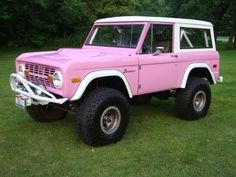 Pink Vintage Ford Bronco my DREAM TRUCK!