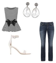 """Untitled #71"" by jordan-eshun on Polyvore featuring Silver Jeans Co., WearAll and Gianvito Rossi"