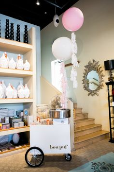 The #LGPOPUP is featured on Glitter Guide today! Go behind the scenes of our fun VIP party! #luluandgeorgia Cotten Candy by @Bon Puf Cotton Candy!