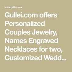 Gullei.com offers Personalized Couples Jewelry, Names Engraved Necklaces for two, Customized Wedding/Engagement, Promise/Commitment Ring Bands for Men and Women, Matching Friendship Bracelets for 2 and Cheap Unique Gifts for Girlfriend and Boyfriend. Matching Promise Rings, Promise Rings For Couples, Rings For Girls, Engraved Jewelry, Engraved Necklace, Engraved Rings, Rose Gold Eternity Band, Platinum Diamond Wedding Band, Couple Jewelry