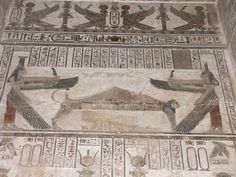 https://flic.kr/p/BoTQ7 | Egypt 2007 | Dendera temple. Ptolemaic. Osiris, Isis and Nepthys