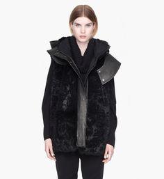 Fur vest for the heavy winter. Helmut Lang