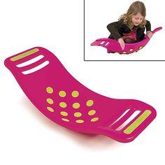"""Niet zo maar een balanswip, nee, dit speel en balanceer speelgoed is uitgerust met 14 zuignappen die zich vastzuigen aan de ondergrond en weer met een """"poppend"""" geluid loslaten zodra je het board beweegt. Zo grappig. Kids kunnen erin gaan zitten, er op gaan staan, wiebelen, balans vinden, wippen...ze verzinnen er van alles mee.�  Het design is hip, kleurrijk, supersterk en van het gerenommeerde merk FatBrainToys.�  Verkrijgbaar in drie trendy kleurstellingen."""